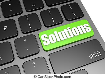 Solutions with black keyboard