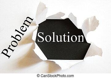 soluzione, affari