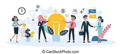 soluzione, creativo, idea., uomo affari, ha, uomo