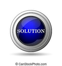 soluzione, icona