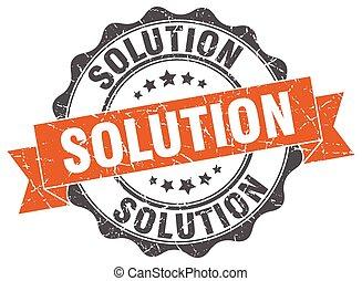 soluzione, stamp., segno., sigillo