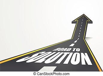 soluzione, strada