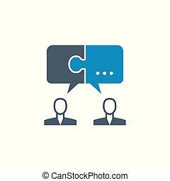 soluzione, vettore, relativo, icon., glyph