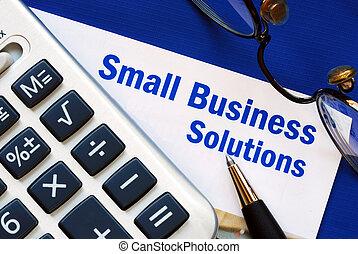 soluzioni, affari, piccolo