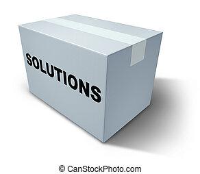 soluzioni, scatola