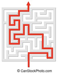 Solved labyrinth