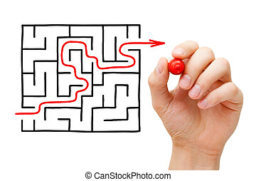 Solved Maze Concept