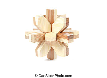 solved wooden puzzle