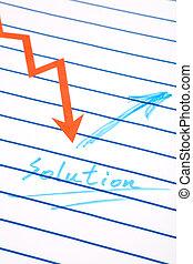 solving problem - business chart, concept of solving problem