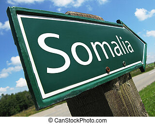 somália, sinal estrada
