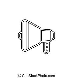 som, áudio, símbolo, -, volume, orador, voz, ícone