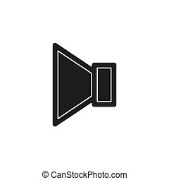 som, alto-falante, áudio, mídia, -, símbolo, volume, vetorial, orador, música, voz, ícone