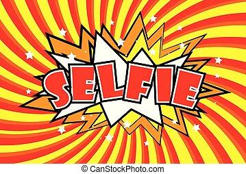som, arte, selfie, estouro, efeitos, cômico, style.