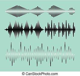 som, cobrança, ondas