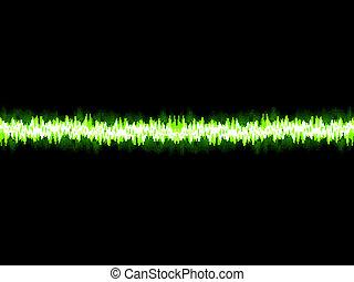 som, eps10, +, onda, experiência., verde branco