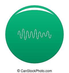 som, equalizador, onda, verde, ícone
