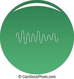 som, equalizador, onda, vetorial, verde, ícone