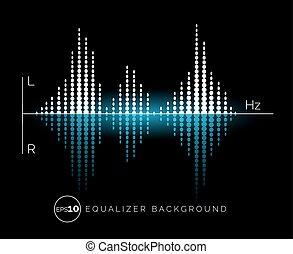 som, equalizador, projeto digital, elemento
