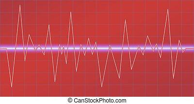 som, modulation., amplitude, equalizer., oscilar, abstratos,...