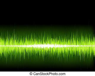 som, +, onda, experiência., verde, eps8, branca