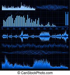 som, set., eps, experiência., música, ondas, 8