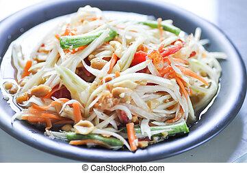 SOM TAM or papaya salad