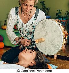 som, tambor, indianas, terapia