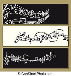 som, texto, notas, músico, writting, ilustração, colorfull, símbolos, vetorial, música, sinfonia, melodia, áudio, bandeira