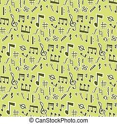 som, vetorial, texto, notas, músico, writting, seamless, ilustração, colorfull, símbolos, sinfonia, música, padrão experiência, melodia, áudio