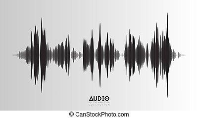 som, visualization., sample., áudio, ondas, música, wavefrom...