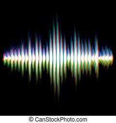 som, waveform, brilhante