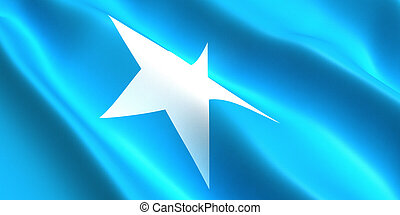 Somalia flag 3d
