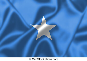 Somalia flag blowing in the wind. Background texture.