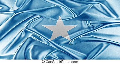 Somalia Flag. Flag with a beautiful glossy silk texture.