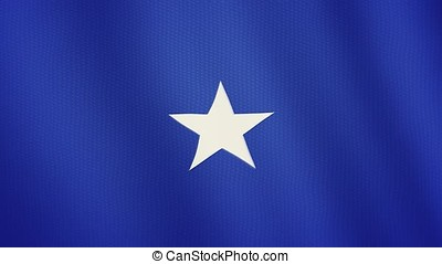 Somalia flag waving animation. Full Screen. Symbol of the country.