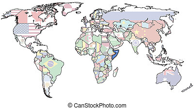 somalia on world map
