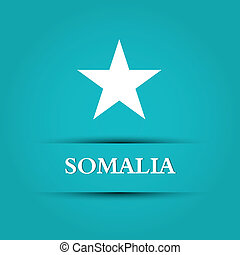 somalia text on special allusive flag background