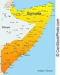 Somalia - Abstract vector color map of Somalia