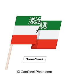 Somaliland Ribbon Waving Flag Isolated on White. Vector ...