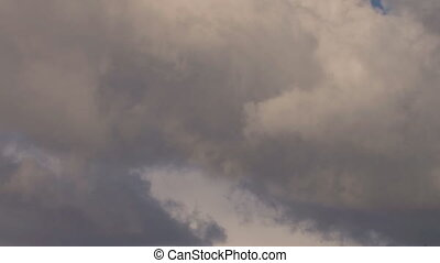 Somber tendrils - A close-cropped shot of sullen clouds...