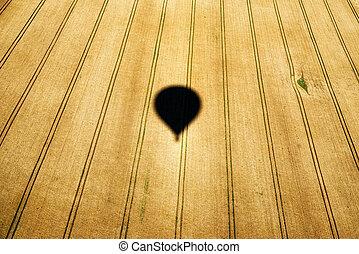 sombra, aire, globo, caliente