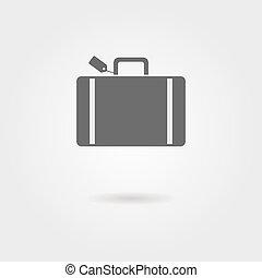 sombra, equipaje, icono