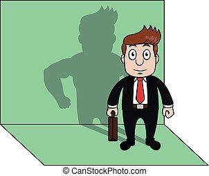 sombra, forte, homem negócio
