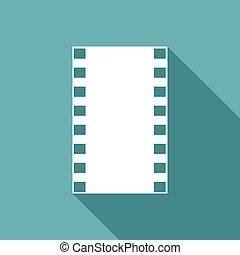 sombra, película, longo, ícone
