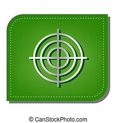 sombra, prata, leaf., remendado, ecológico, sinal., linha, verde, illustration., apontar, escuro, ícone, alvo, gradiente