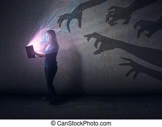 sombras, bíblia