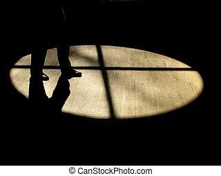 sombras, caminata
