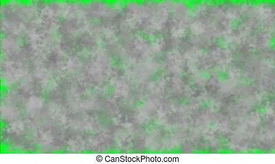 sombre, écran, vert, fumée