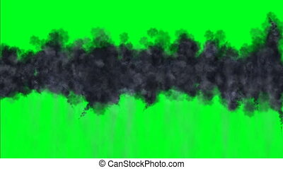 sombre, écran, vert, nuage
