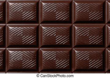 sombre, barre, chocolat